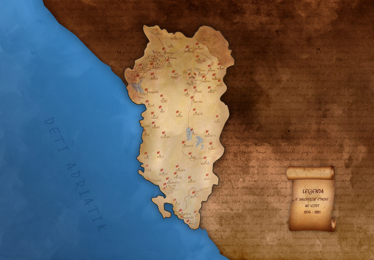 Old map of Albania